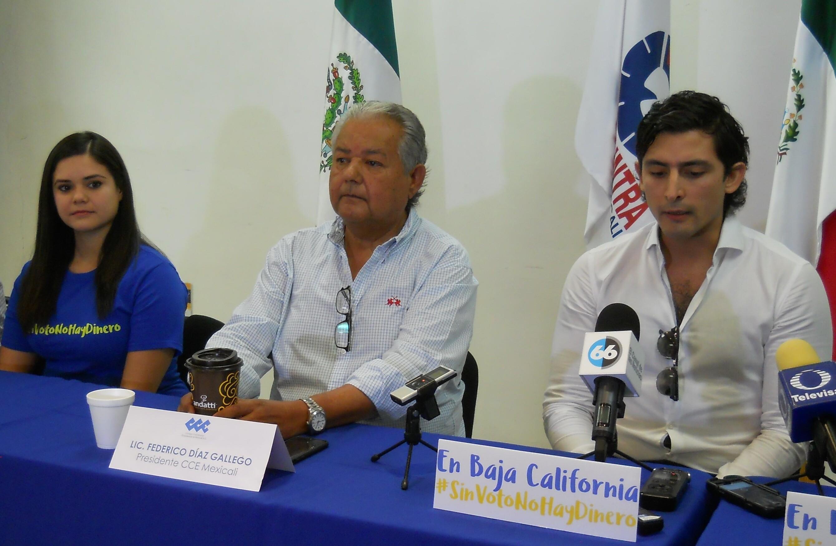 Resultado de imagen para MEXICALI, SIN VOTO NO HAYA DINERO