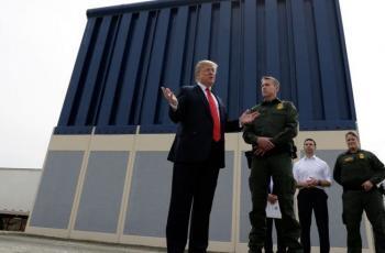 Visita Trump frontera entre California y BC para conocer el 'muro'