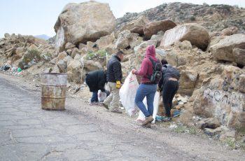 Intensa jornada de limpieza en La Rumorosa