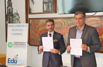 Firman convenio Observatorio Nacional Ciudadano y Fundación EduPaz