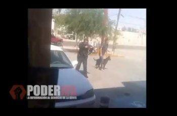 Mujer policía somete a violento sujeto armado