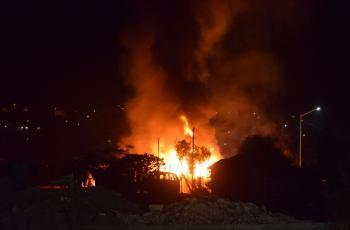 Fallece abuelito en incendio de Tecate