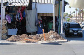 Inaccesibles las calles, por obras de la Línea Exprés