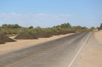 Avazan reparaciones de carreteras en el Valle de Mexicali