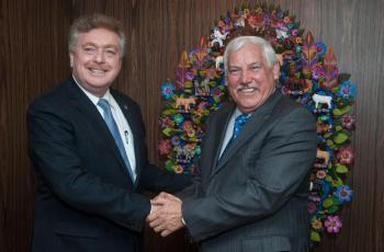 Gobernador Vega y titular de Sader buscarán fortalecer sectores en BC