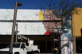 """Crean """"Ciudad Mural"""" en el Centro Histórico de Mexicali"""