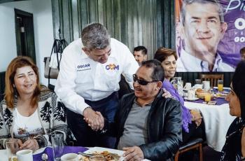 Promete Oscar Vega apoyar a OSC´s